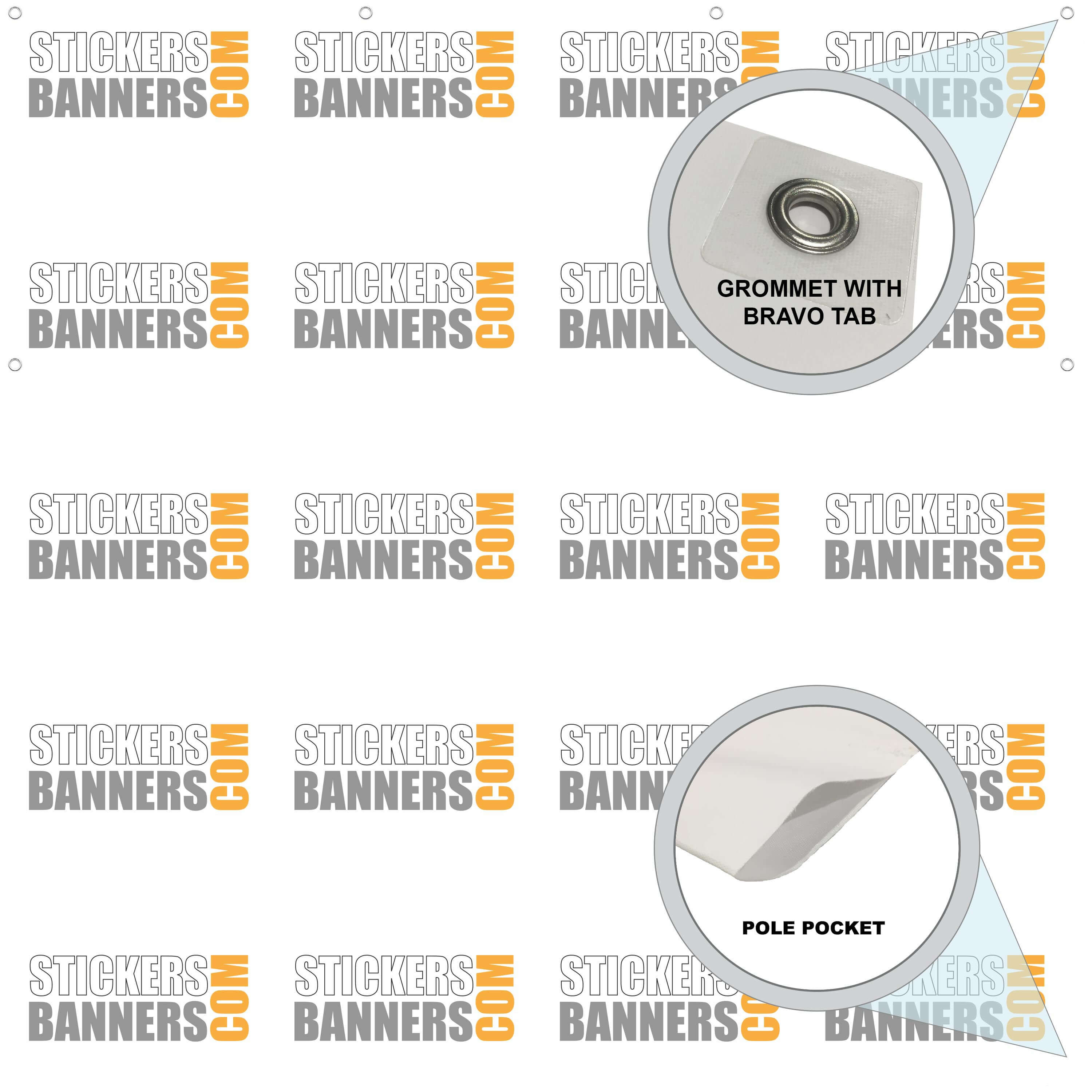 Image result for Fabric Banner Finishing Options