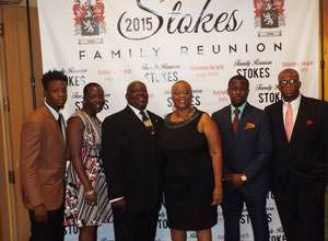 Stoke's family reunion step and repeat printed by StickersBanners
